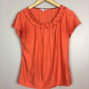 Boden Orange Cap Sleeve Top Size 6